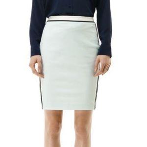 Club Monaco Retro Mint Pencil Skirt With Piping